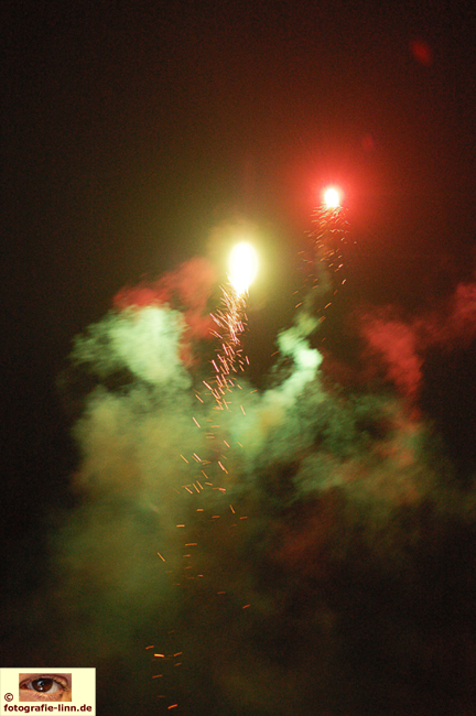 Feuerwerk über Frankfurt