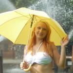 Posing mit Schirm 2