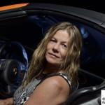 Model in Porsche Boxster