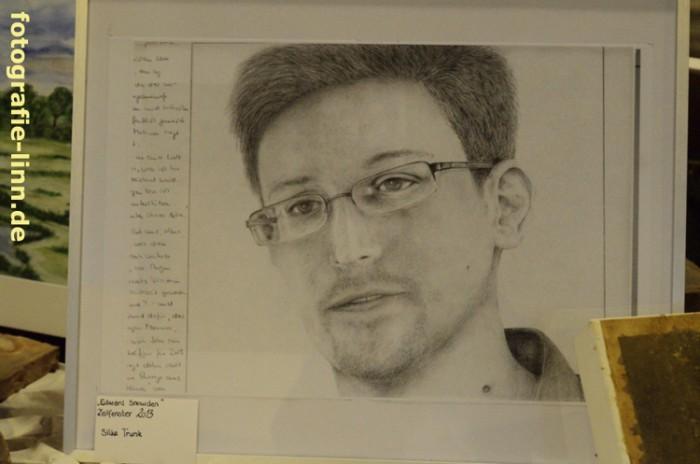 Zeichnung Edward Snowden