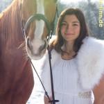 Portrait mit Pferd