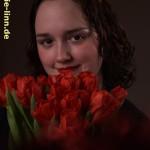 50 rote Tulpen