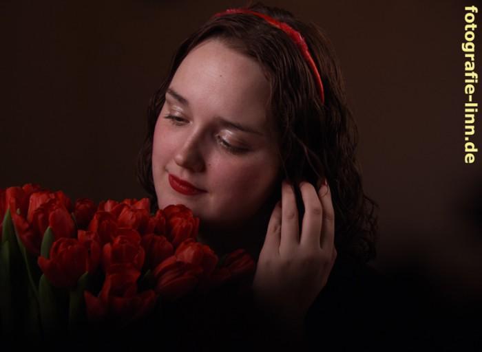 verträumt mit Blumen