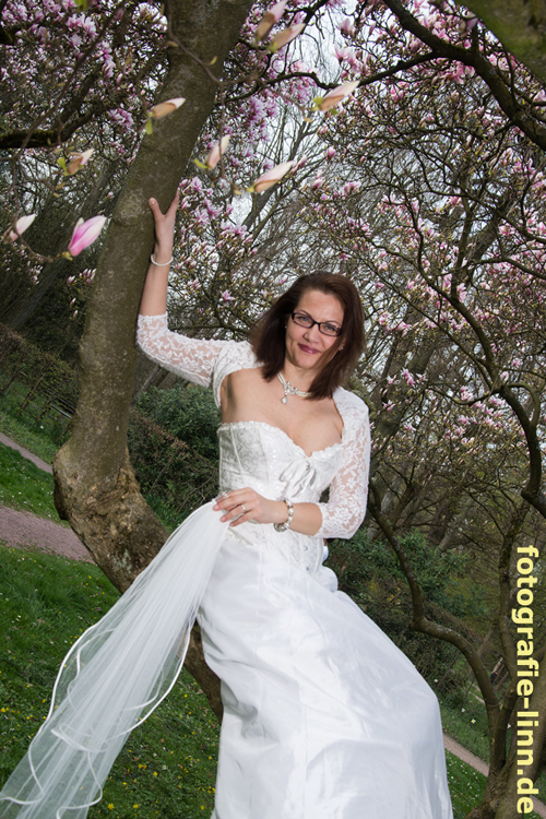 im Hochzeitskleid