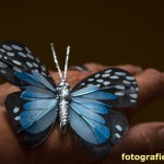 blauer Deko-Schmetterling