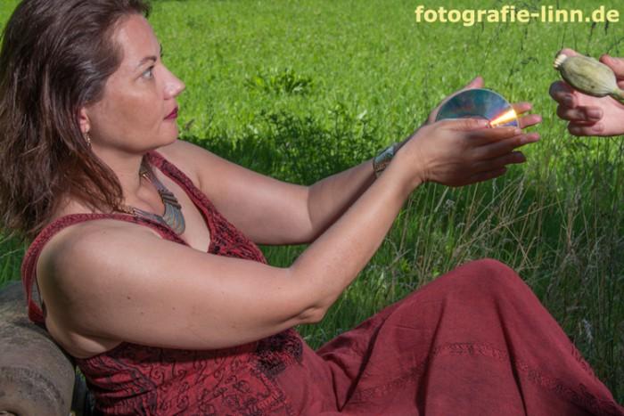 Iris mit CD
