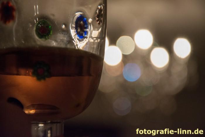 Weinglas mit Bokeh