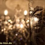 Kronleuchter & Sektglas