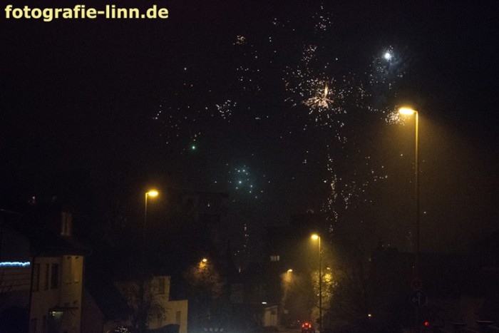 Silvesterhimmel über Dietzenbach