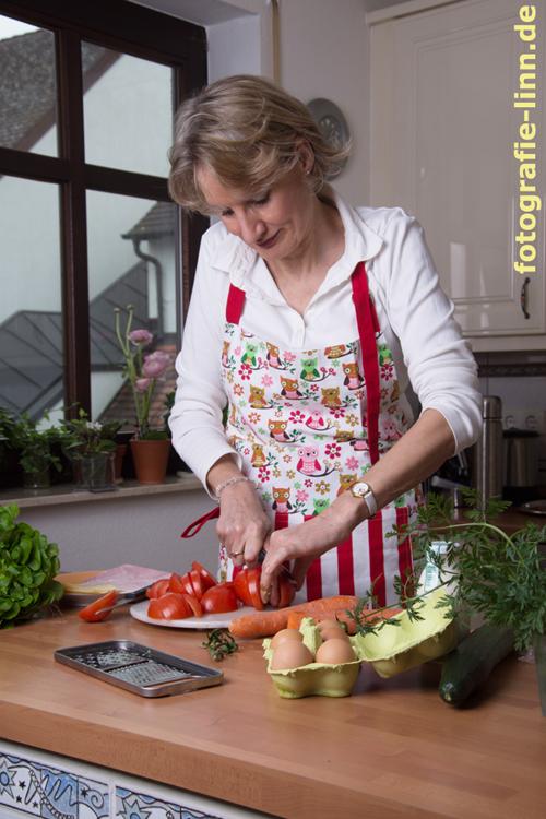 Zubereitung des Salats