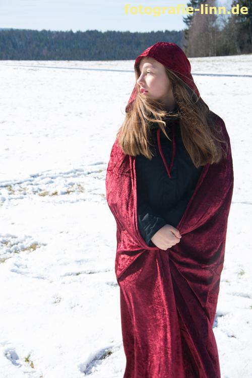 auf dem verschneiten Feld