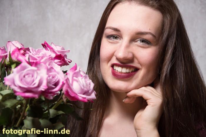 Rosen und Lächeln