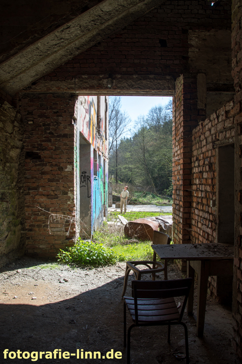 Blick aus dem Nebengebäude
