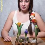 Zopf mit Tulpen