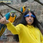 The parrot man