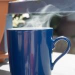starker Kaffeedampf