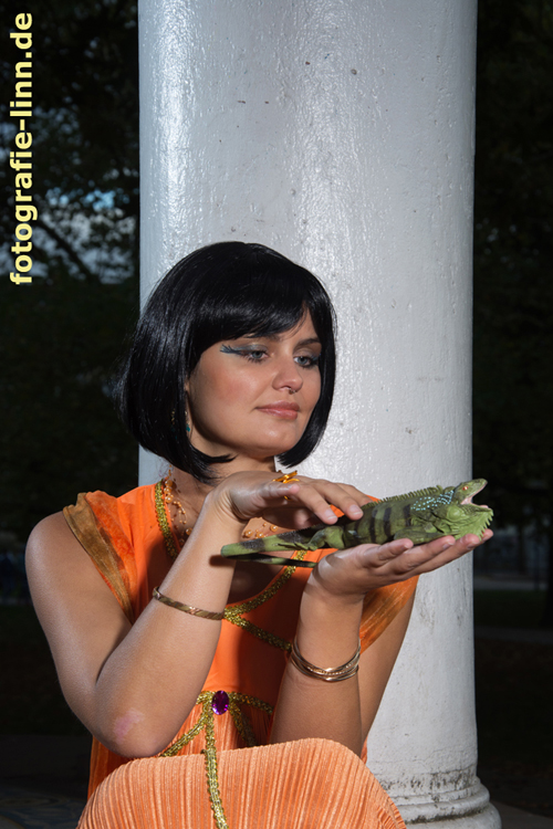 Cleopatra mit Leguan