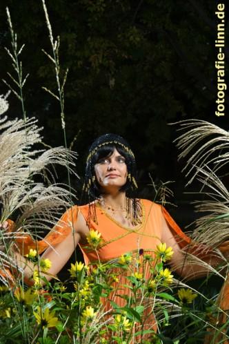 Cleopatra im Garten
