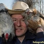 Hühnerzüchter-Portrait